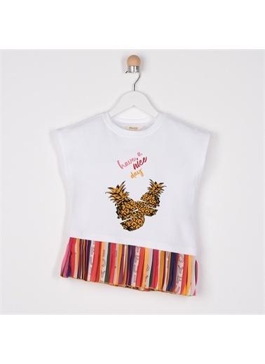 Panço Kız Çocuk T-Shirt 2111GK05014 Beyaz